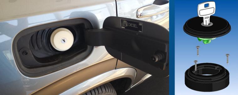 Il nuovo tappo benzina antifurto per le auto senza tappo di serie.